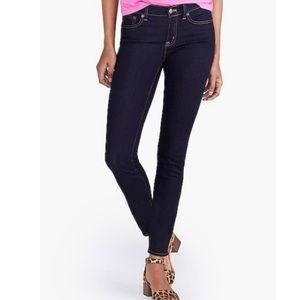 J. Crew Dark Wash Stretch Skinny Jeans